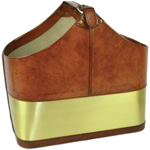 Flavia Leather Console Tan
