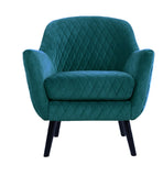 Club Chair Peacock with Black Legs