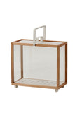 Lighthouse Lantern Indoor/Outdoor Rectangular Teak/White