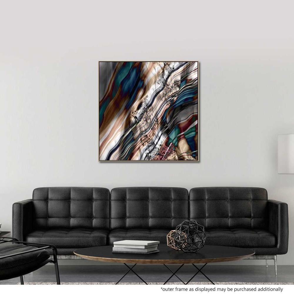 Silk Road Canvas Print with Floating Frame