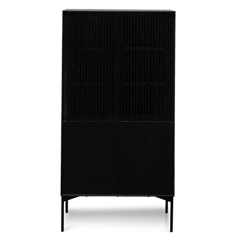Hatti 4 Door Cabinet Black