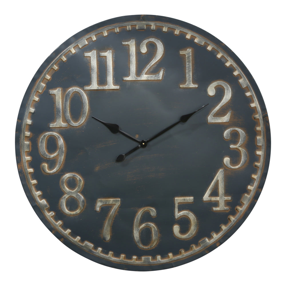 Midnight Metal Wall Clock