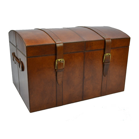 Winthrop Leather Treasure Chest Tan