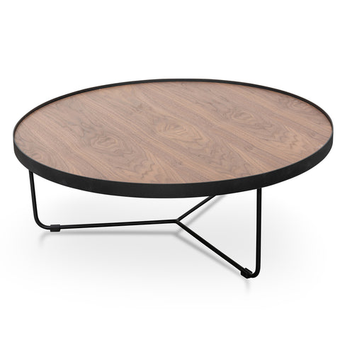 Holm Coffee Table Black/Walnut 90cm x 33cm