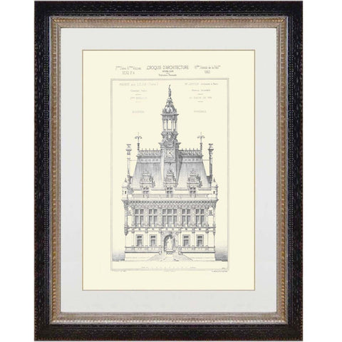 French Architectural Print 7