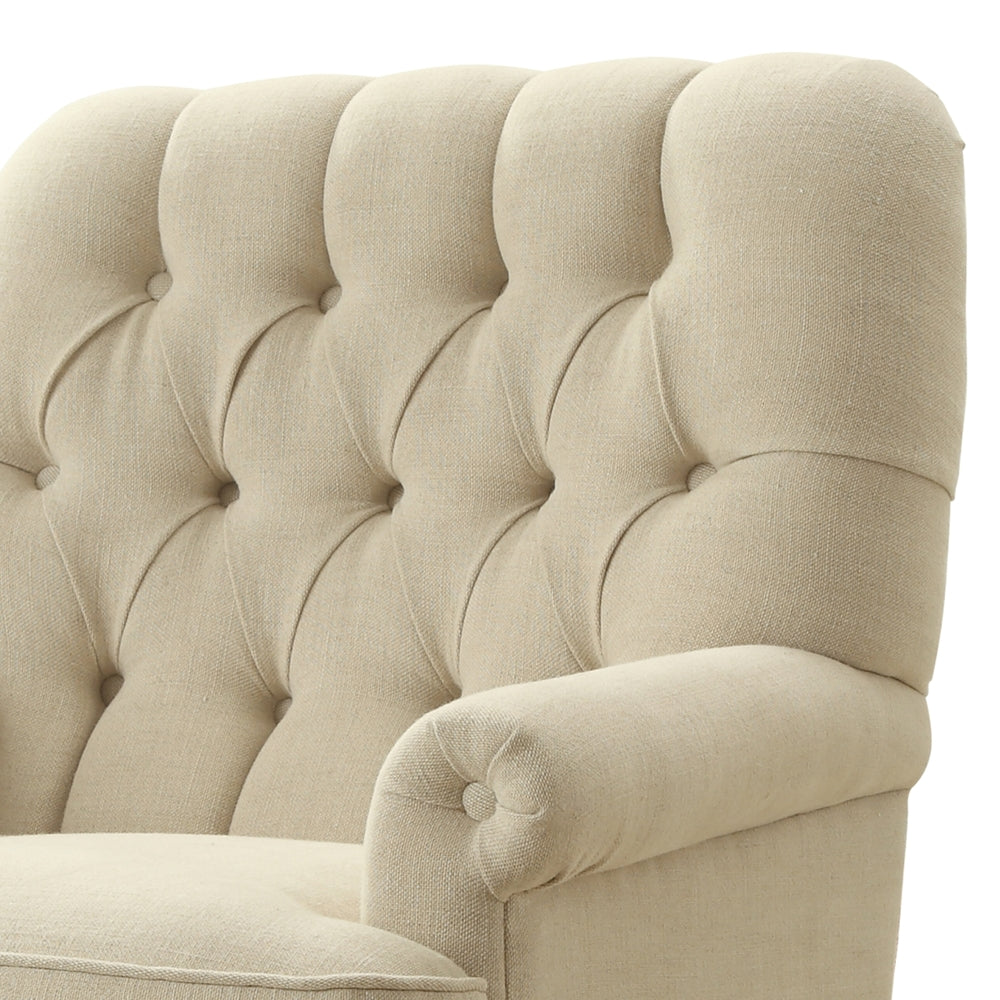 Luxury Studded Armchair Beige