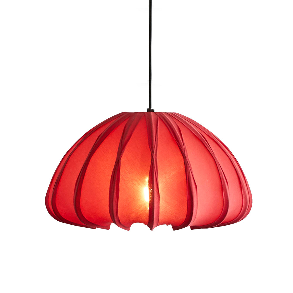 Anemone Pendant Light Deep Red