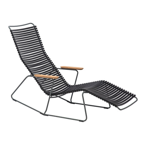 Click Armrest Outdoor Dining Chair Black
