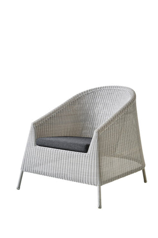 Kingston Outdoor Sun Chair White Grey with Cushion Options