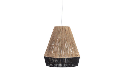 River Table Lamp Black and Natural Pair