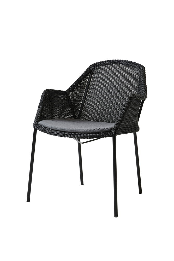Breeze Stackable Dining Chair Black with Cushion Options