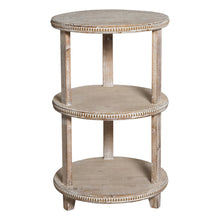 3 Tier Round Timber Side Table