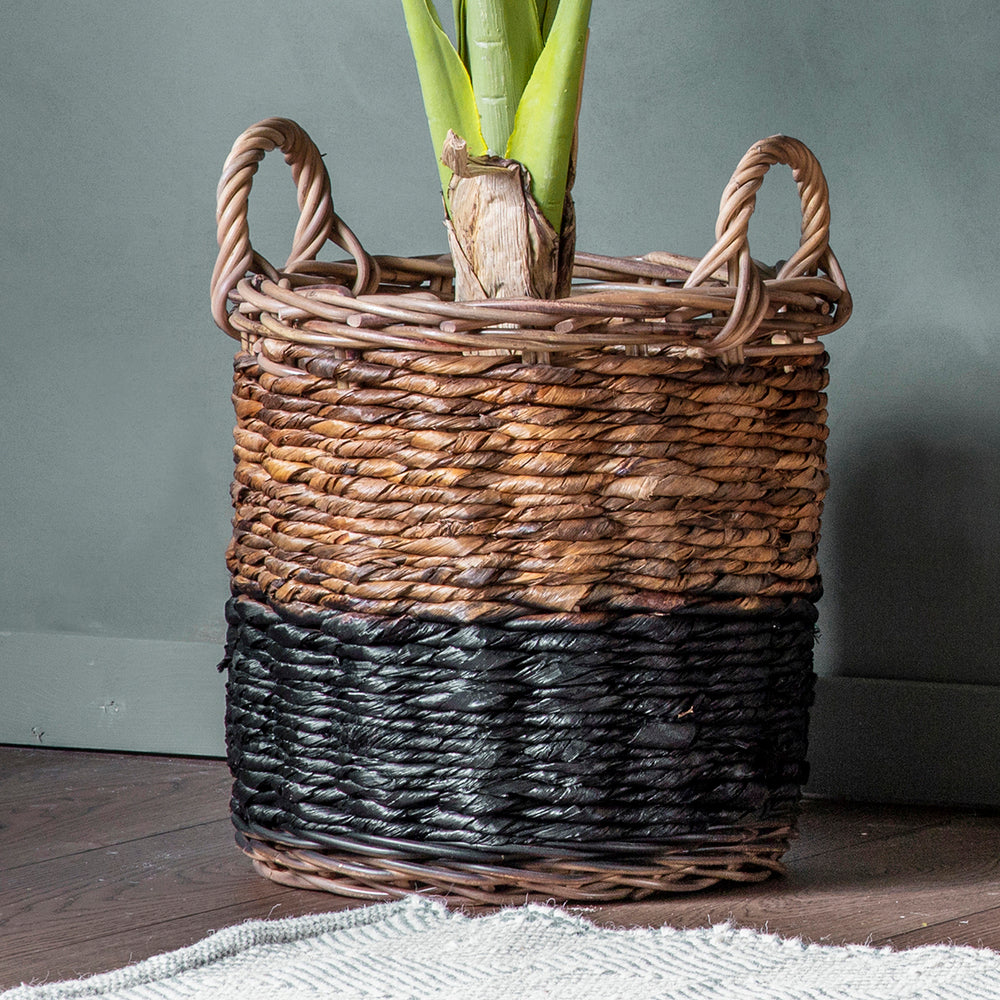 Martinez Set/3 Baskets Natural & Black
