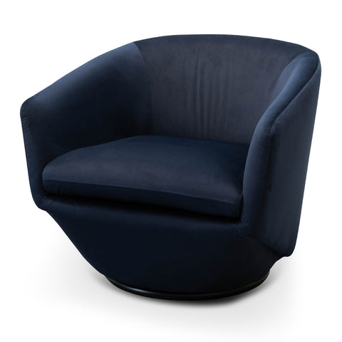 Jonas Swivel Chair Navy Velvet