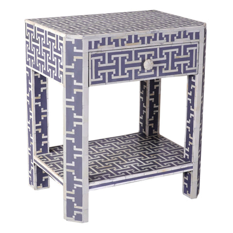Adonia Bone Inlay Side Table