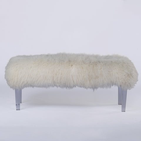 Mongolian Fur Bench