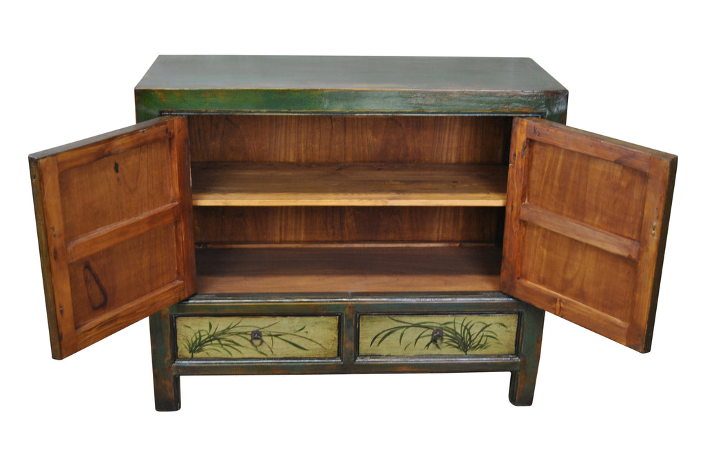 Traditional Style Chinese Story Cabinet