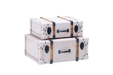 Two Tone Suitcase Trunks Set/2