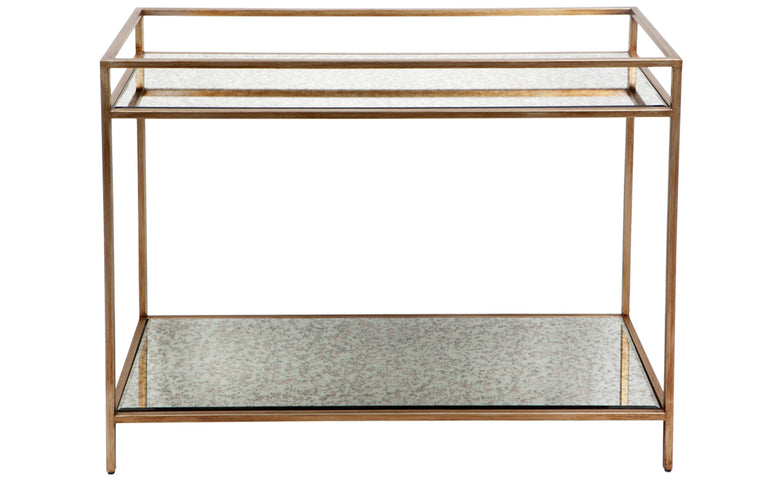 Cocktail Drinks Table Antique Gold