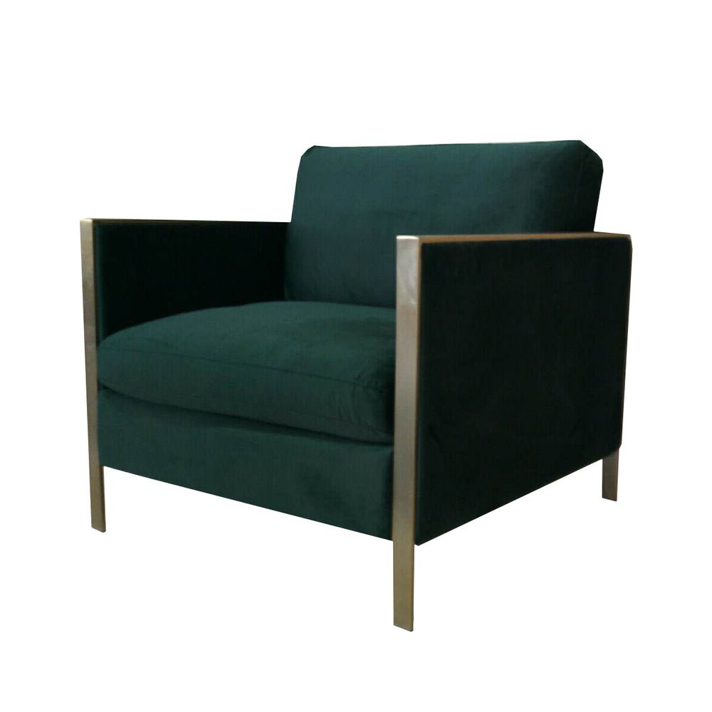 Knox Green Velvet Armchair
