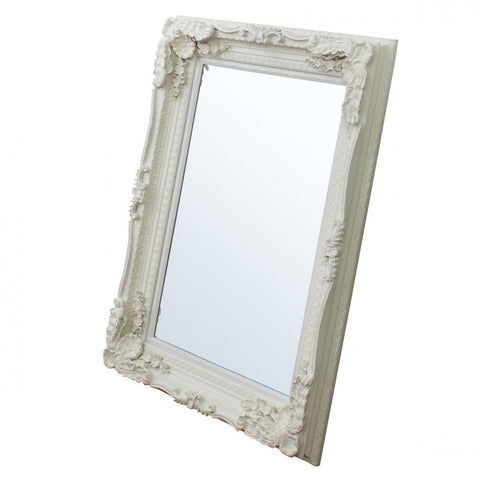 Carved French Wall Mirror Cream