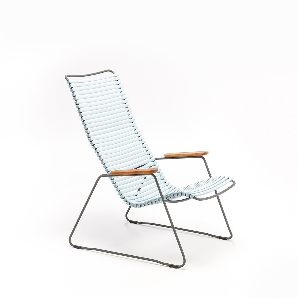 Click Outdoor Lounge Chair Dusty Light Blue