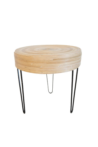 Gigi Rattan Side Table White