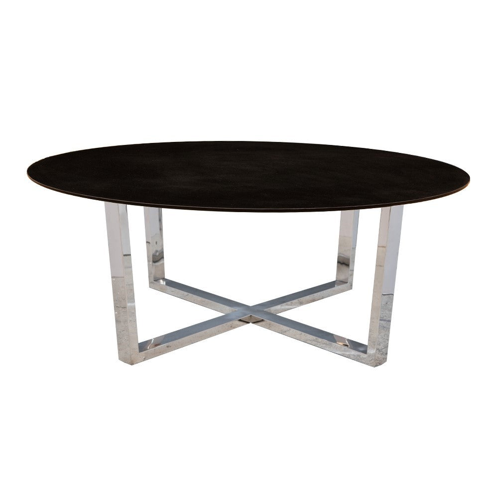 Ayton Stainless Steel Coffee Table with Granite Top
