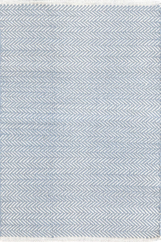 Herringbone Cotton Rug Swedish Blue