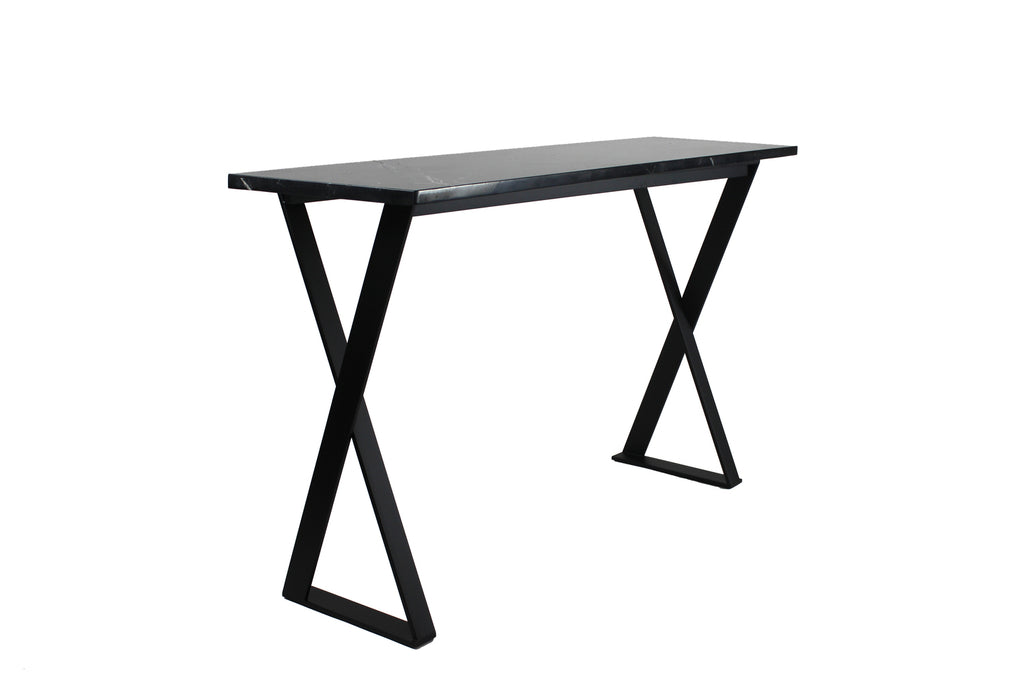 Lynne Console Black with Clear Glass
