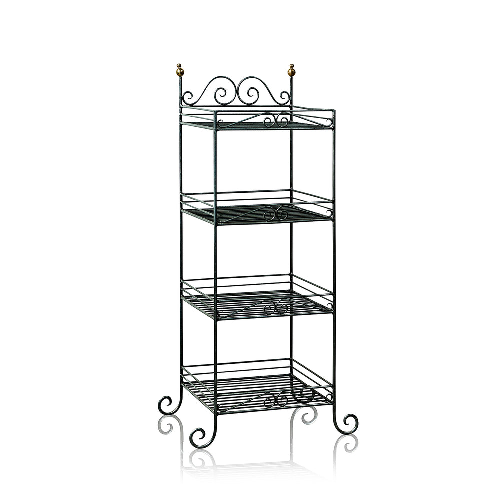 Etagere Wrought Iron Stand