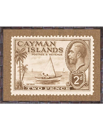 Tropical Island Postage Stamp Print 2