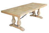 Madrid Parquetry Dining Table Natural