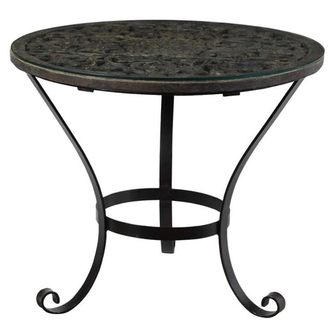 Konark Hall Table Black Wash