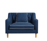 Livia Chair Navy & White