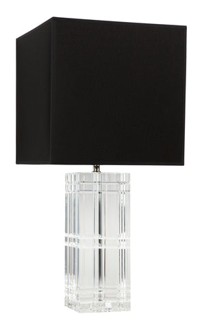 Glass Nickel Lamp with White Shade
