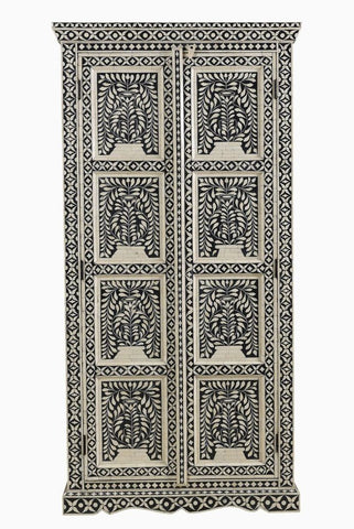 Yasmin Bone Inlay Cabinet Black