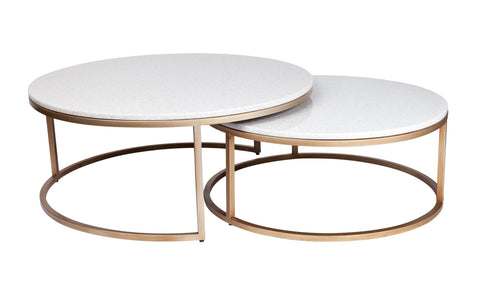 Monique Coffee Table Set/2 White
