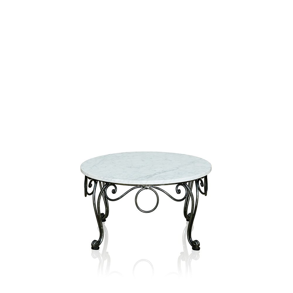 Chantilly Resort Lamp Table With Marble Top Round