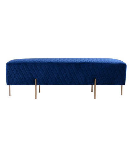 Coco Quilted Bench/Ottoman French Navy