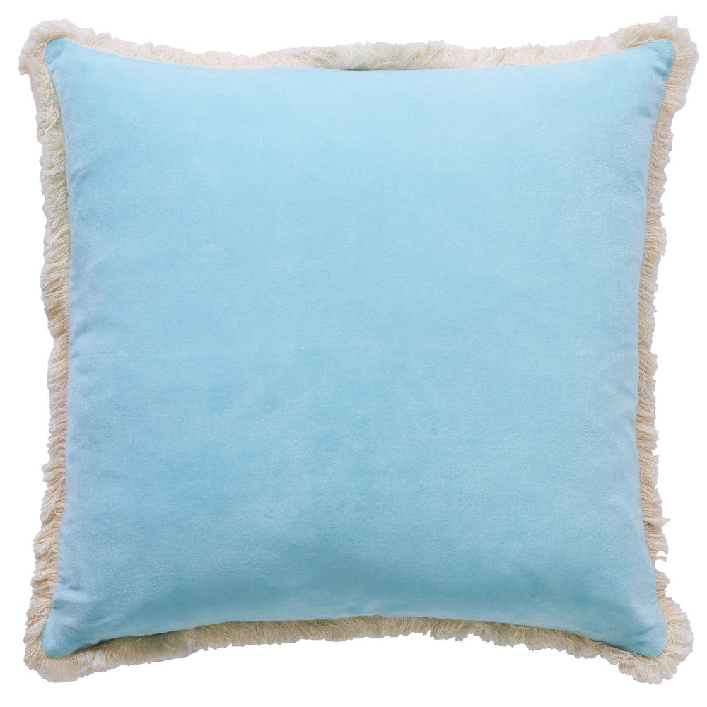 Summertime Fringe Velvet Cushion
