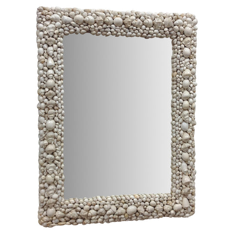 Sereno Shell Mirror White