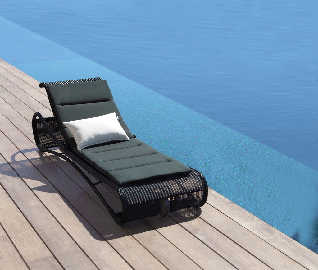 Escape Sunbed Black with Cushion Options