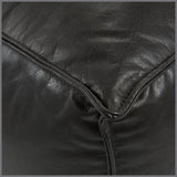 Gaspard Ottoman Chocolate Leather