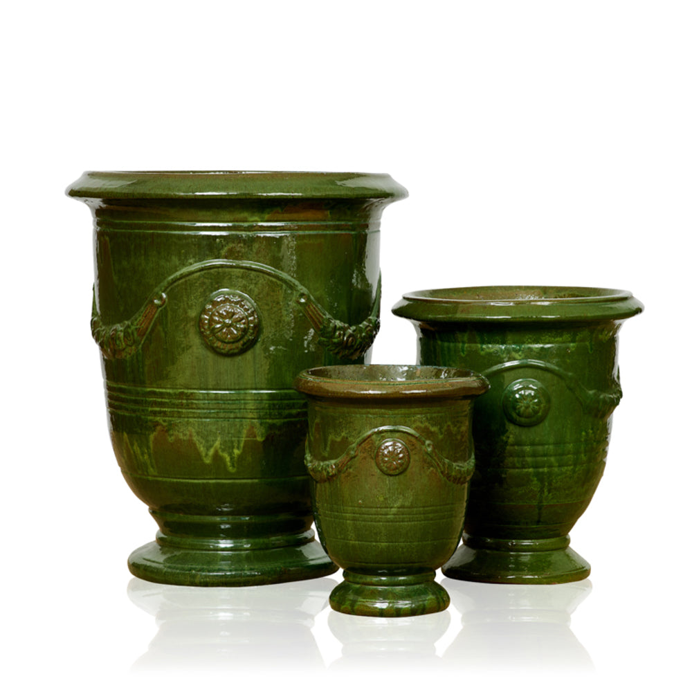 Garland French Style Urn Olive Green