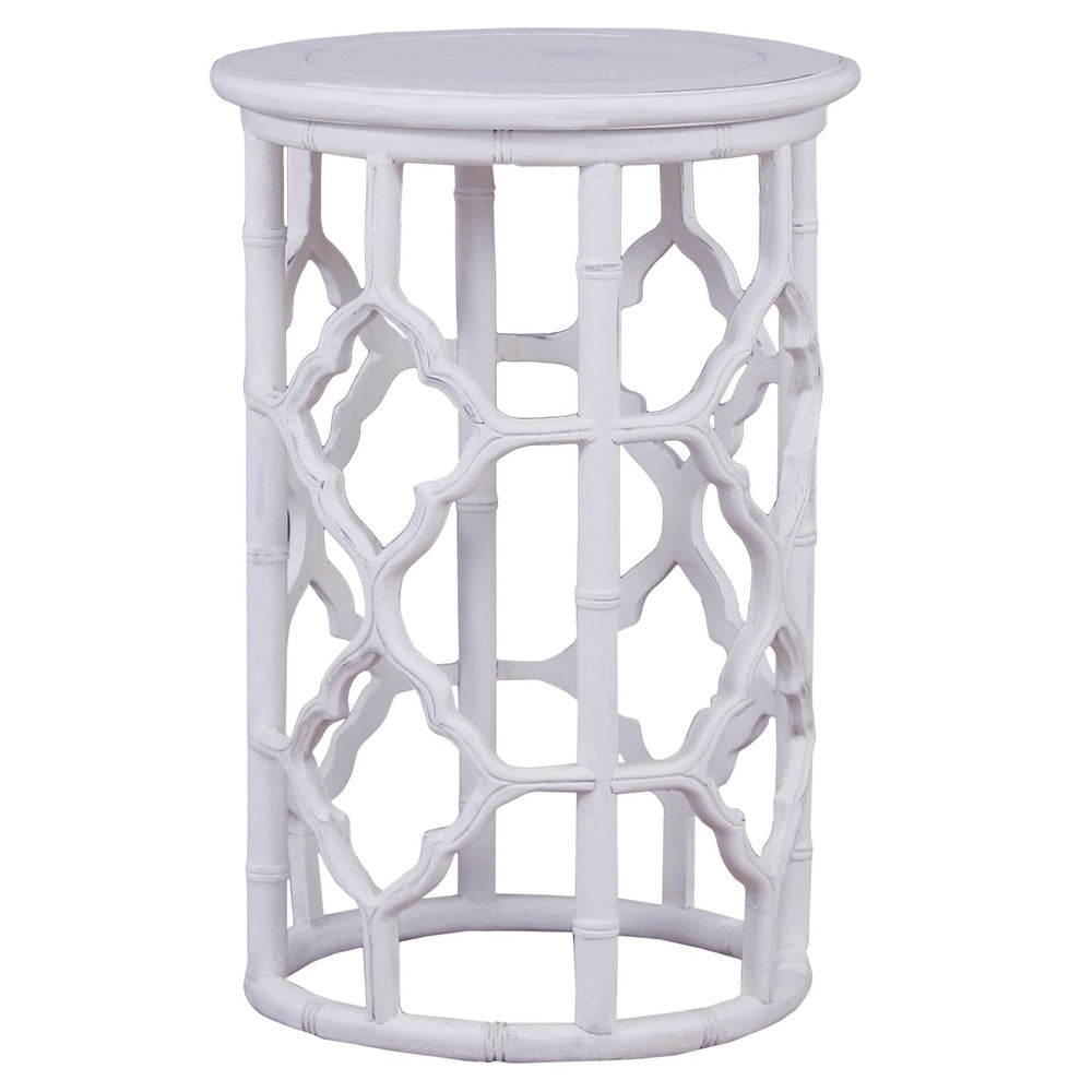 Trellis Side Table White
