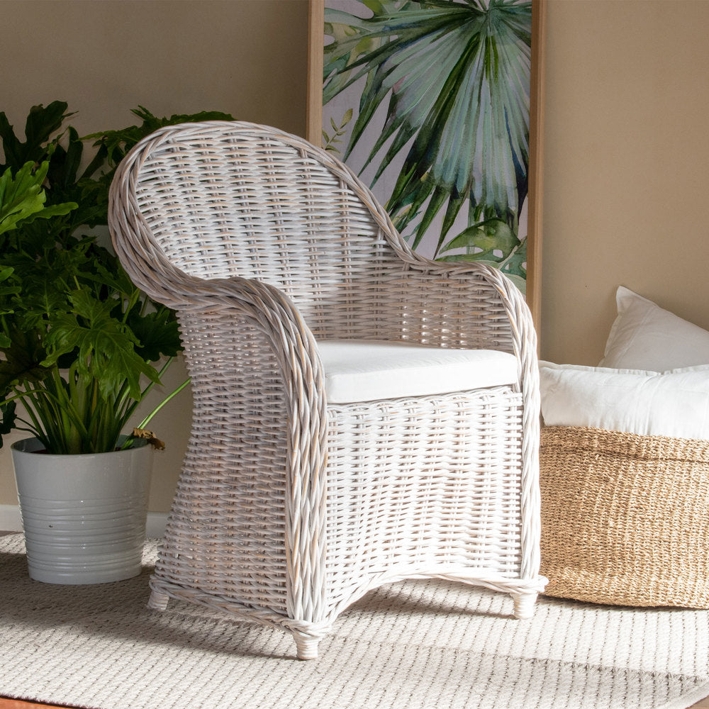 San Lucas Armchair Distressed White