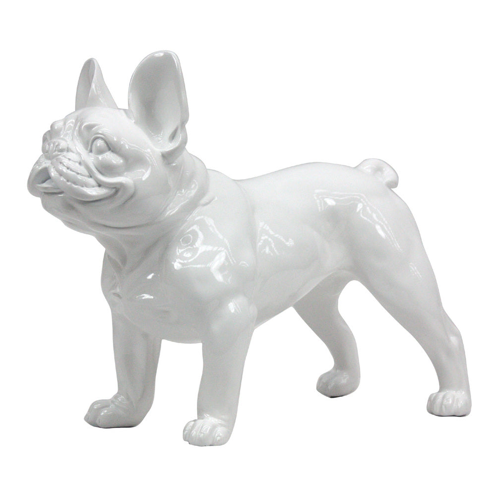 French Bulldog Standing White Gloss