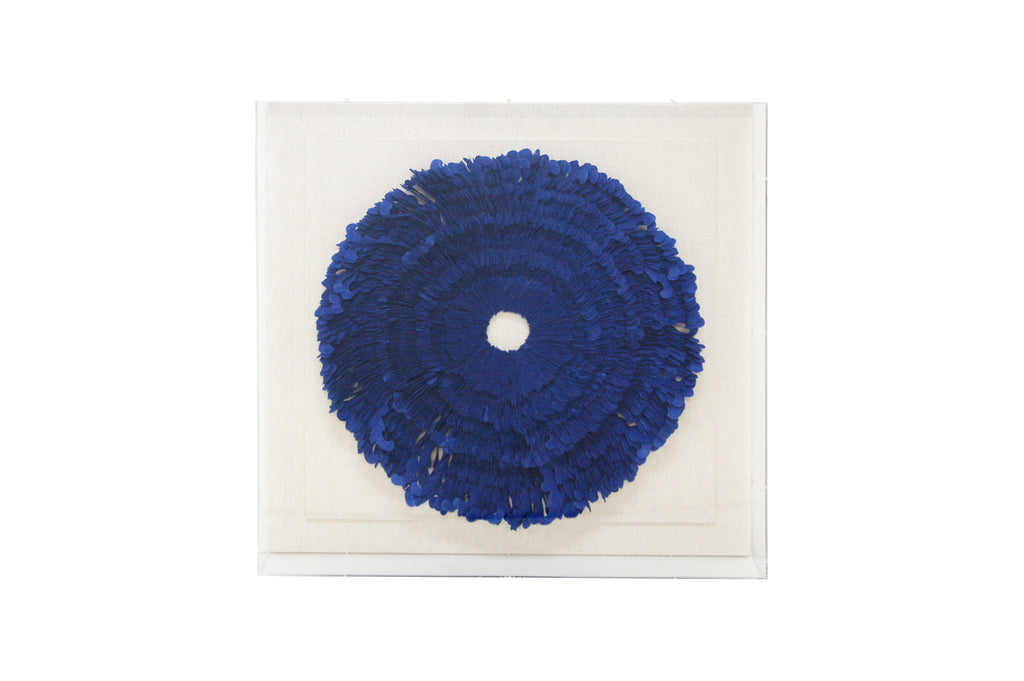 Zafir Framed Art Royal Blue