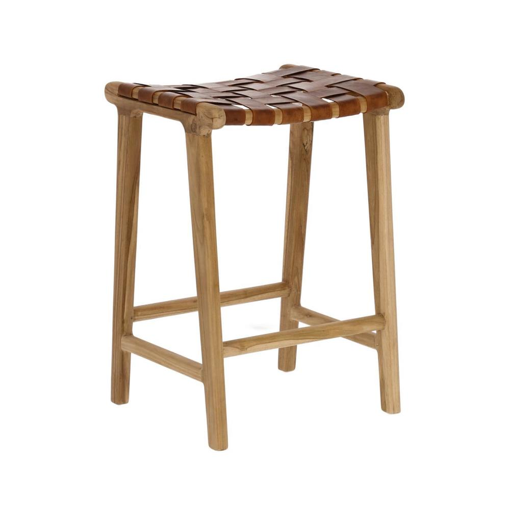 Akari Leather Stool
